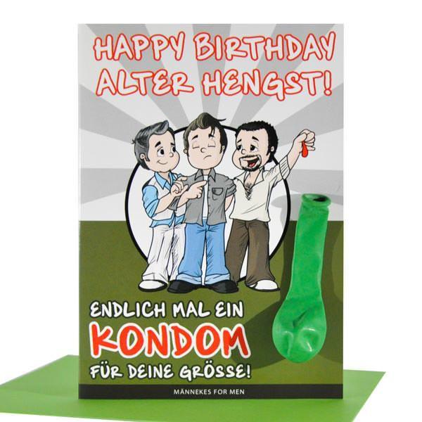 Geburtstagskarte für Männer - Alter Hengst