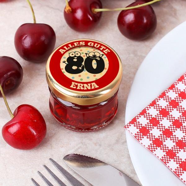 Kirschlikör im EInmachglas zum 80. Geburtstag