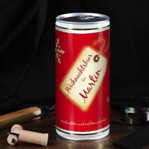 1 Liter Weihnachtsbier mit Namensaufdruck