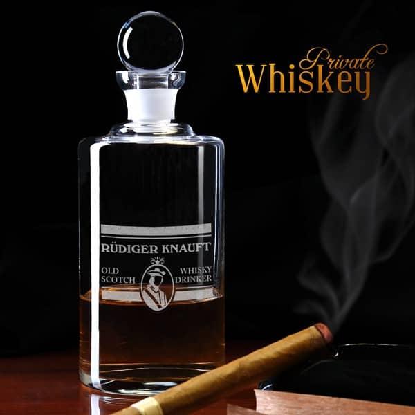 Personalisierte Whiskeykaraffe Motiv *Old Scotch*