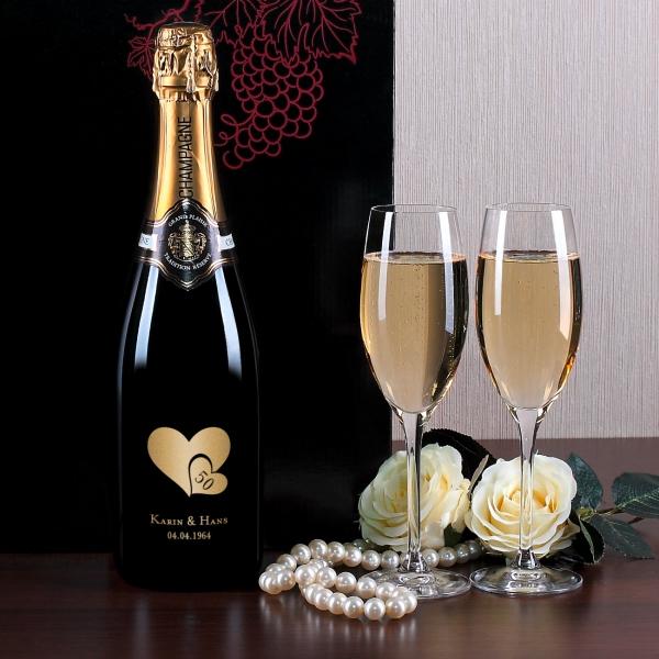 ... mit persönlicher Gravur zur goldenen Hochzeit  geschenke-online.de