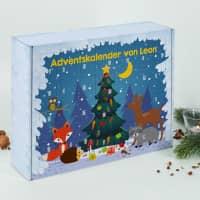 DIY Adventskalender mit Tieren des Waldes und Ihrem Wunschtext