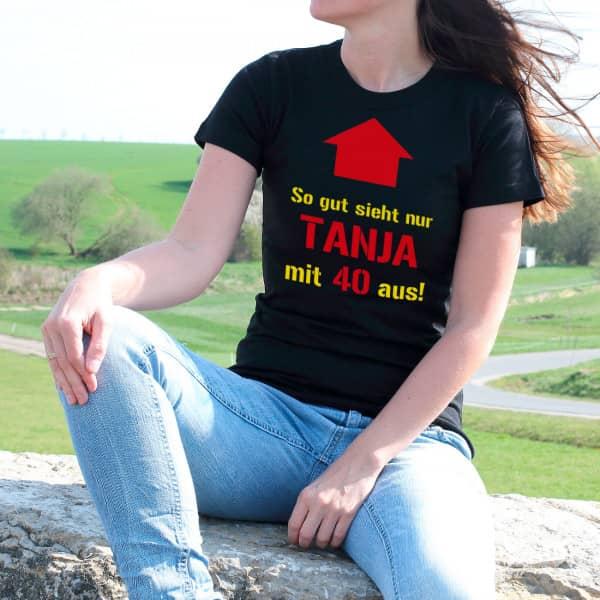 T-Shirt zum Geburtstag in schwarz