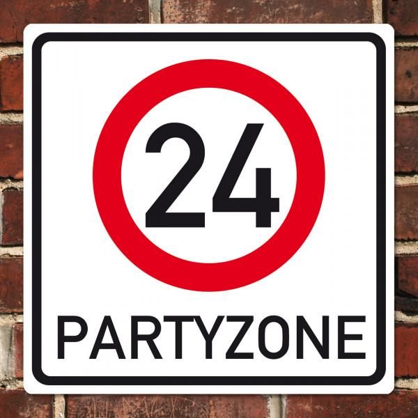 PVC Schild zum 24. Geburtstag