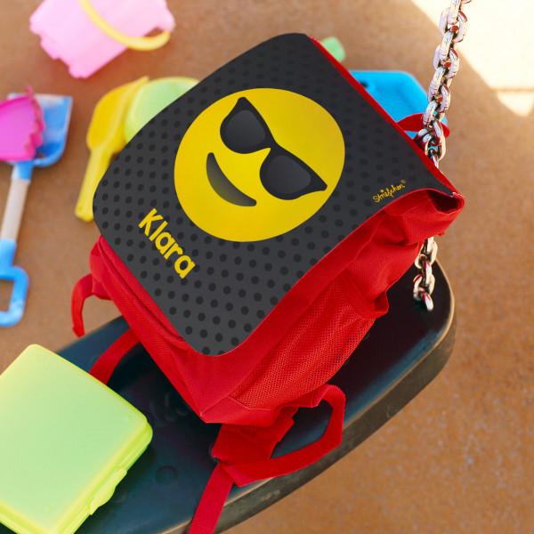 Kindergartenrucksack mit Emoji und Name