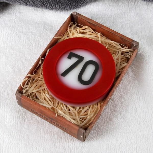 handgemachte Seife zum 70. Geburtstag
