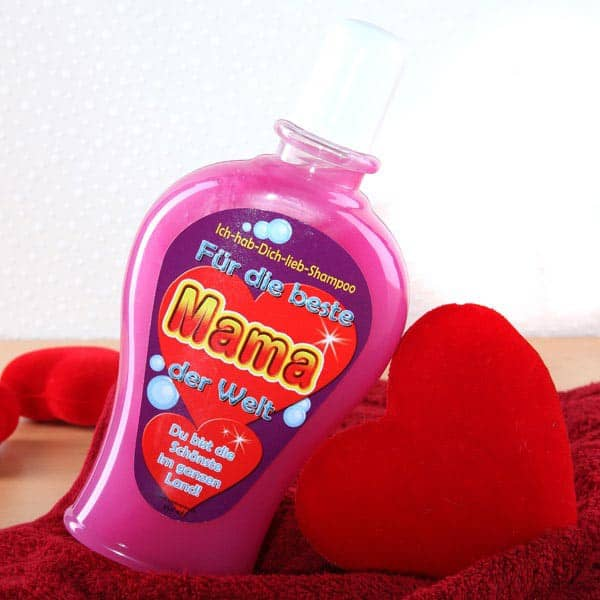 Shampoo in rosa für Mama