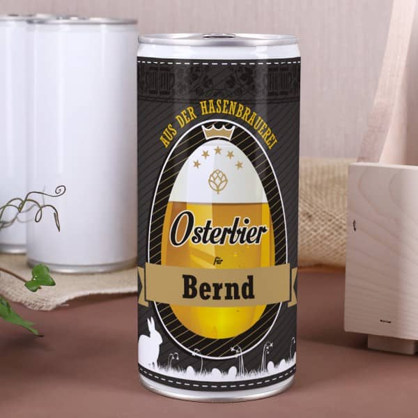 personalisierte bierdose osterbier aus der hasenbrauerei. Black Bedroom Furniture Sets. Home Design Ideas
