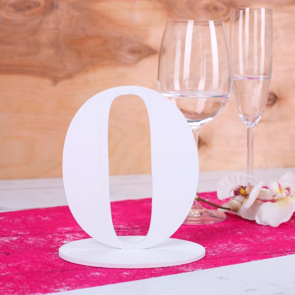 Zahl 0 für Ihre Tischdekoration