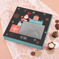 Geldgeschenk zu Weihnachten - Pralinen mit Geldumschlag, mit Name personalisiert