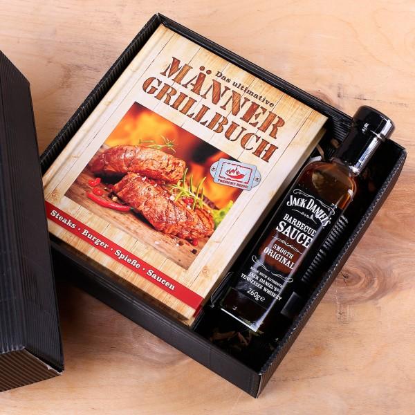 Männerset Grillbuch mit BBQ Sauce