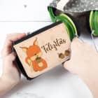 Kindergeldbörse mit Eichhörnchen-Motiv und Wunschname bedruckt