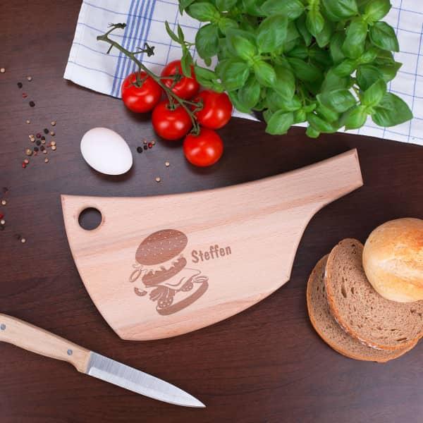 Burger-Brettchen aus Holz