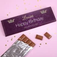300g Schokolade -Happy Birthday- mit persönlichem Text