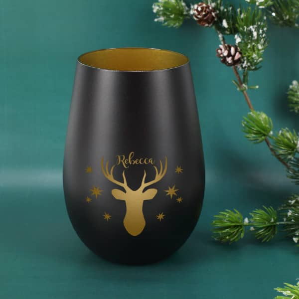 Nützlichdekoration - Windlicht mit tollem Rentier und Sternen - Onlineshop Geschenke online.de