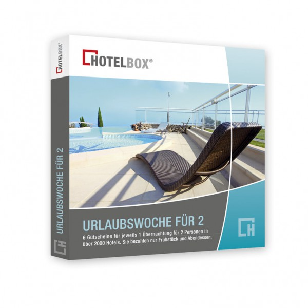 Hotelbox für eine Urlaubswoche für 2