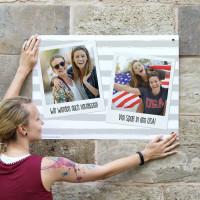 Polaroid-Banner 70x50cm mit zwei Fotos und Ihren Wunschtexten