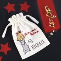 Weihnachtsmäuse - Säckchen für Geldgeschenke mit Name