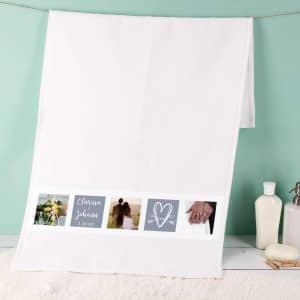 Handtuch zum Valentinstag mit Fotos
