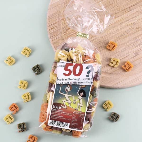 Zahlen-Nudeln zum 50. Geburtstag