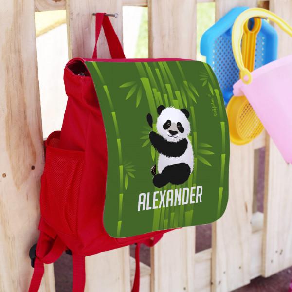 Kinderrucksack mit Panda und Wunschname