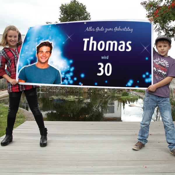 Ihr Foto freigestellt auf dem Banner zum Geburtstag