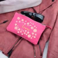 Pinkes Beautycase mit Namensaufdruck