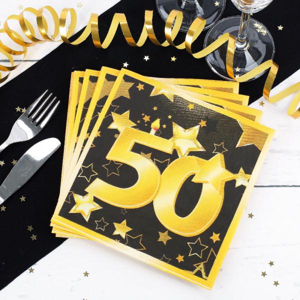 20 Servietten zum 50. Geburtstag - Star