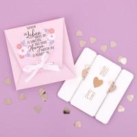 Herzarmbänder für Schwestern in persönlicher Box