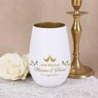 Just Married - Teelicht zur Hochzeit mit Namensgravur