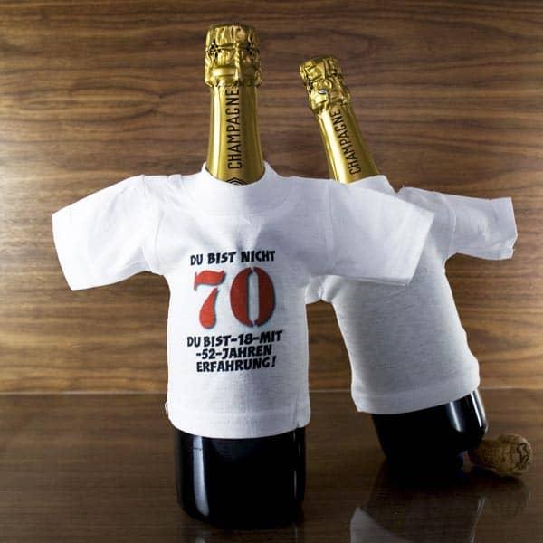 Flaschenshirt zum 70. Geburtstag