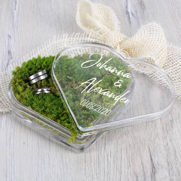 Ringbox aus Glas zur Hochzeit
