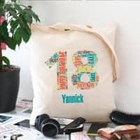 Personalisierter Baumwollbeutel zum 18. Geburtstag