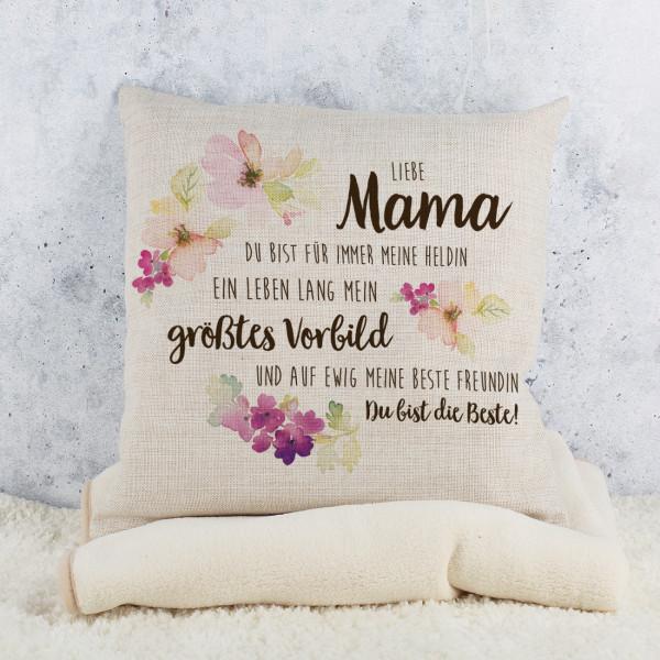 Kissen zum Muttertag mit Kompliment für Mama