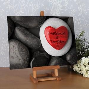 Leinwand für Verliebte - mit rotem Herzen
