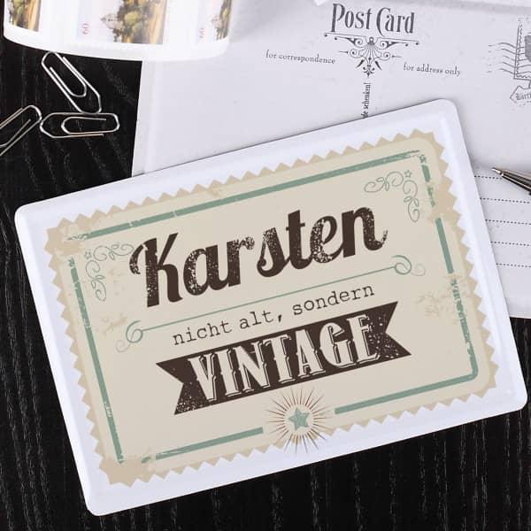 Blech Postkarte Geburtstag vintage Name