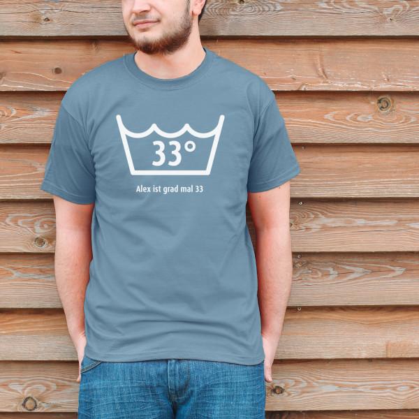 Geburtstags Shirt Ich werde grad mal mit Alter und Name