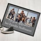 Herzlich Willkommen - moderne Foto-Fußmatte mit Ihrem Wunschtext