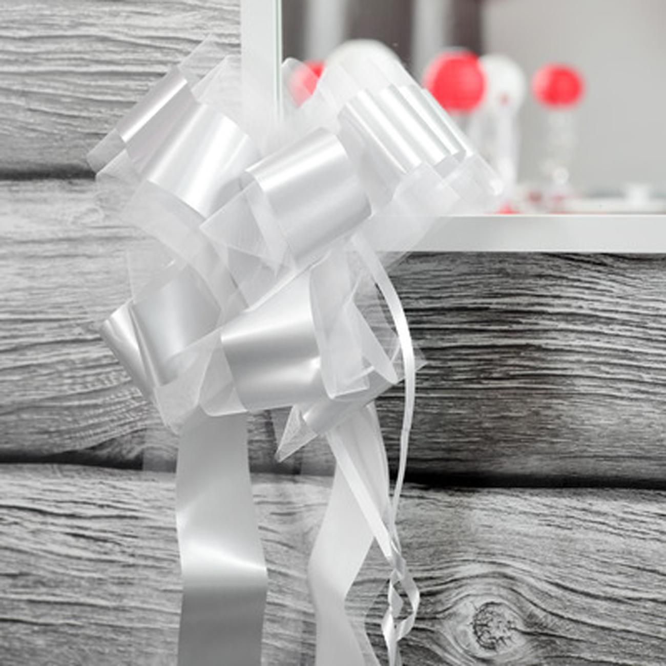 schleifenband mit t ll und in wei geschenke. Black Bedroom Furniture Sets. Home Design Ideas