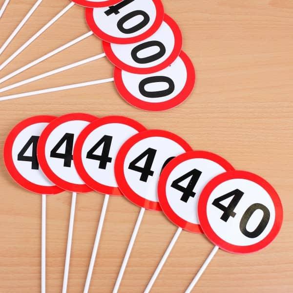 12er Set Mini Schilder zum 40. Geburtstag