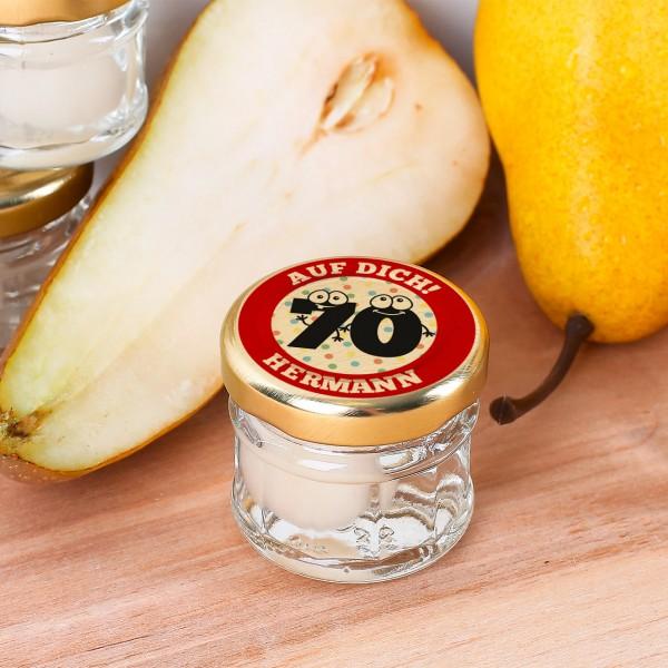 Einmachglas zum 70. Geburtstag
