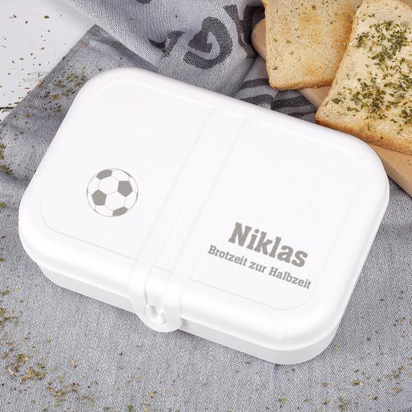 Brotzeit zur Halbzeit weiße Brotdose
