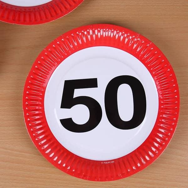 Pappteller - Achtung 50
