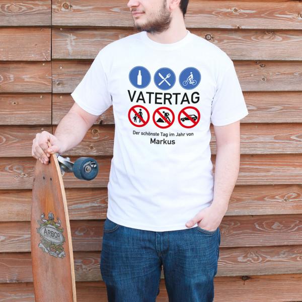 T-Shirt zum Vatertag mit Geboten und Verboten - Geschenke zum Vatertag