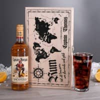 Rum-Set mit Captain Motiv