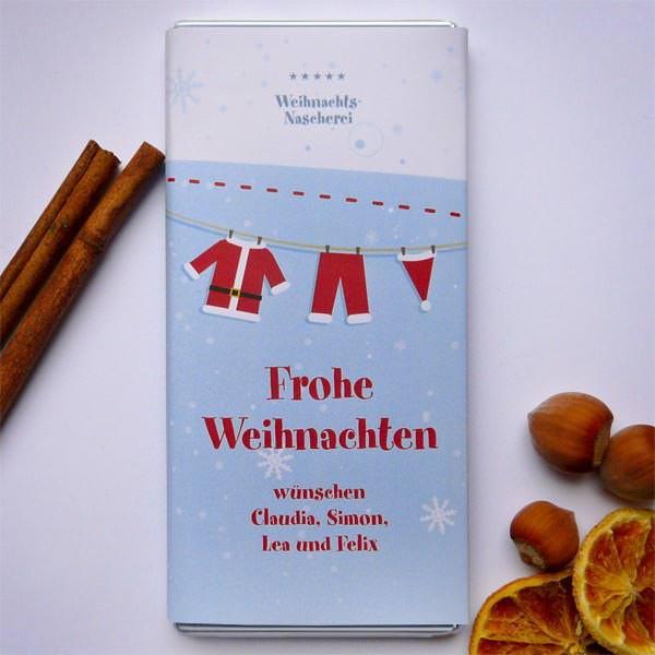 Weihnachtsschokolade im 6er pack
