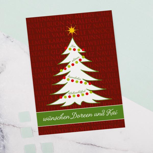 Stimmungsvolle Weihnachtspostkarte mit Ihrem Text