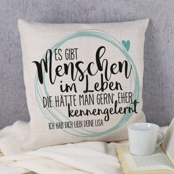 Kissen Fur Freundinnen Mit Tollem Spruch Und Wunschtext