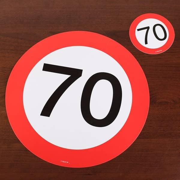 Platzdeckchen set mit untersetzern zum 70 geburtstag - Dekoration zum 70 geburtstag ...