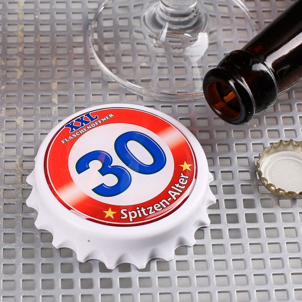 XXL-Flaschenöffner mit Magneten zum 30.